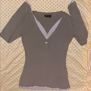 Long sleeve comfy shirt OLIVE GREEN COLOR